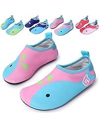 Flexible Barefoot Water Skin Shoes Aqua Socks for Beach...