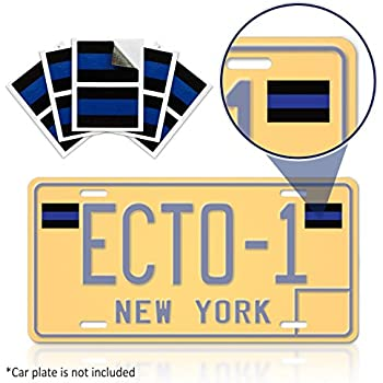 Blue lives matter license plate sticker pack of 10 vinyl decal weatherproof