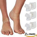 Heel Pain Gel Pads 3 Pairs Plantar Fasciitis Sore Feet Bruised Foot Pain Bone Spurs Treatment Relief Wrap