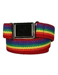 CTM® Kids' Elastic Rainbow Adjustable Belt with Magnetic Buckle, Rainbow
