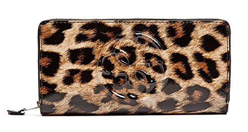 Patent Leather Large Hobo (Guess Leopard Shine Patent Zip Around Wallet Clutch Bag)