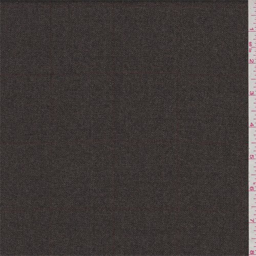 Taupe Check Wool Flannel, Fabric By the Yard - Wool Flannel Yard