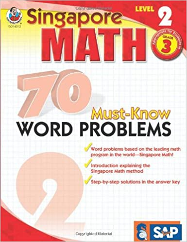 Amazon.com: 70 Must-Know Word Problems, Grade 3 (Singapore Math ...