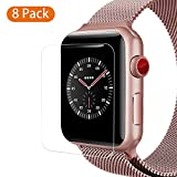 [8 PACK] For Apple Watch Screen Protector 38mm Series 3 2 1 ,COVERY HD Anti-Scratch Bubble Free Film Accessories For iWatch 38mm [6 PACK+2PACK Compatible With Case]
