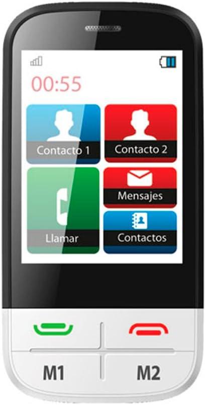Ibold - Telefono facil Uso Senior tactil 2,8 Pulgadas Libre Blanco ...