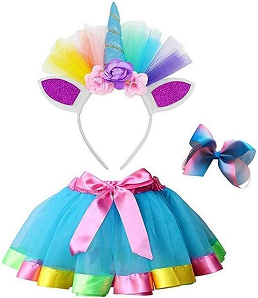 Goodtimera - Faldas de Colores para Disfraz de Unicornio con tutú ...