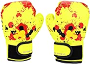 Kid's Boxing Gloves, Children Cartoon Pu Leather Boxing Gloves Fight Gloves Punching Mitts for Beginners S
