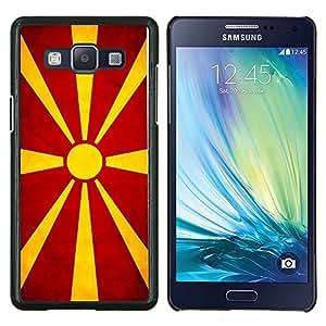 "Be-Star Único Patrón Plástico Duro Fundas Cover Cubre Hard Case Cover Para Samsung Galaxy A5 / SM-A500 ( Bandera nacional de la Serie-macedonio"" )"