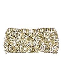 Susenstone®Winter Women Ear Double Color Headband Knit Flower Hairband