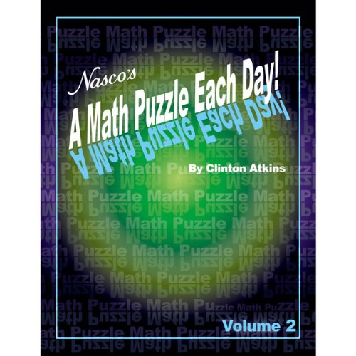 NASCO TB23497T A Math Puzzle Each Day, 184-Page Book, Vol...