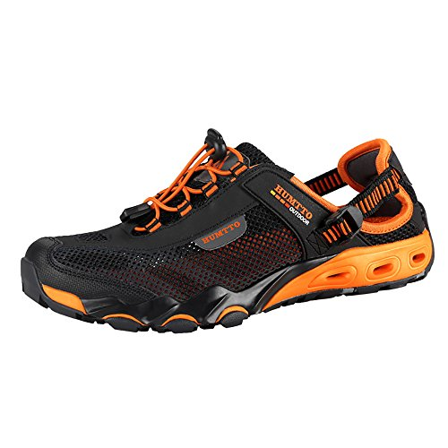Mens Water Shoes Hiking Aqua Shoes Quick Dry Breathable Wading Trekking Sneakers (11.5, 1605 Black)