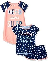 Girls' Big 3 Piece Jersey Pajama Set