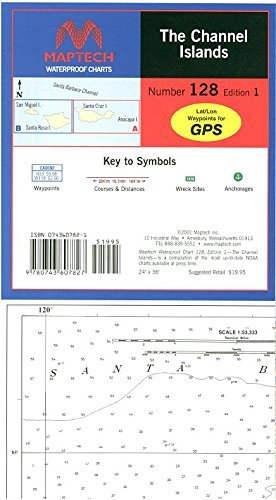 Maptech Waterproof Chart The Channel Islands 1st Edition. Model:WPC128