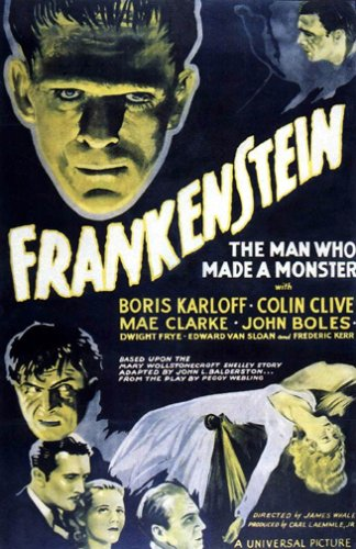 Frankenstein Movie Poster (Frankenstein the Man Who Made a Monster Movie Poster by HSE)