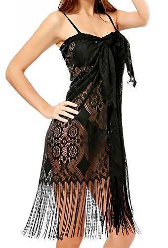 Sierry Women Beach Coverup Tassel Beachwear Dress Bikini Sarong Wrap Swimsuit Cover Lace Floral Beach Wear Swimwear Cover Up