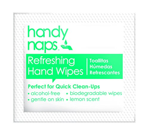 Handynaps Pre-Moistened Refreshing Hand Cleaning Wet Wipes, Individually wrapped Bulk Buy 1000 Count by Handnap (Image #1)