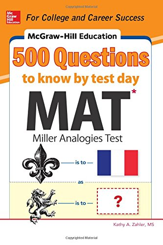 Pdf Test Preparation McGraw-Hill Education 500 MAT Questions to Know by Test Day (Mcgraw-hill Education 500 Questions)