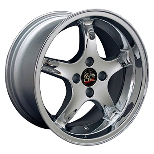 Chrome Wheel 17x9 Cobra R Deep Dish Style w/20mm Offset for 1979-93 Ford Mustang