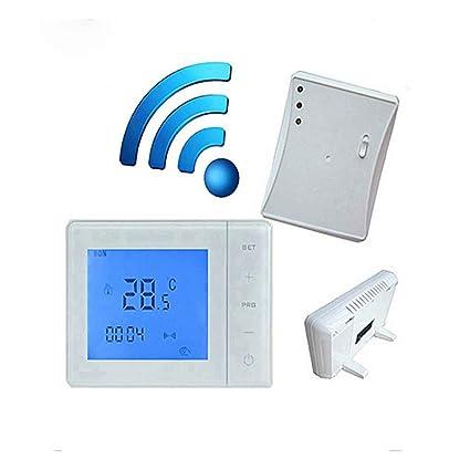 433MHZ termostato inalámbrico de la caldera de gas Control de RF 5A Termóstato de calefacción de