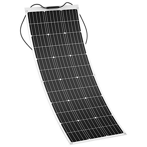 Solar Panel, GIARIDE 18V 12V 100W High-Efficiency Monocrystalline Cell with MC4 Connectors Flexible Bendable Off-Grid Solar Panel Charger for 12 Volt Battery, RV, Camping, Boat, Car, Motorhome