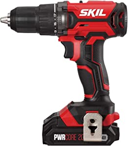 SKIL 20V 1/2 Inch Cordless Drill Driver, Includes 2.0Ah PWRCore 20 Lithium Battery and Charger - DL5275-10