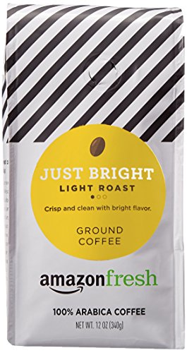 AmazonFresh Just Bright Ground Coffee, Light Roast, 12 Ounce (Pack of 3)