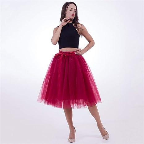 HEHEAB Falda Split Falda Faldas Vintage Verano Womens Tul Elástico ...