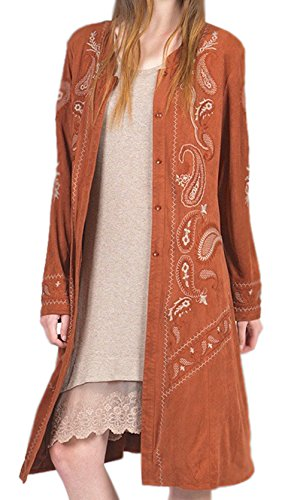 Suede Embroidered Jacket - 6