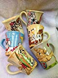 Pet Lovers Coffee Mugs, Set of 6, Personalized at no Charge. Signed by Artist, Debby Carman.