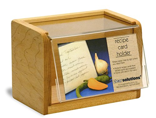 - Maple Recipe Box - Holds 350 3x5 Inch Cards - Made in the USA