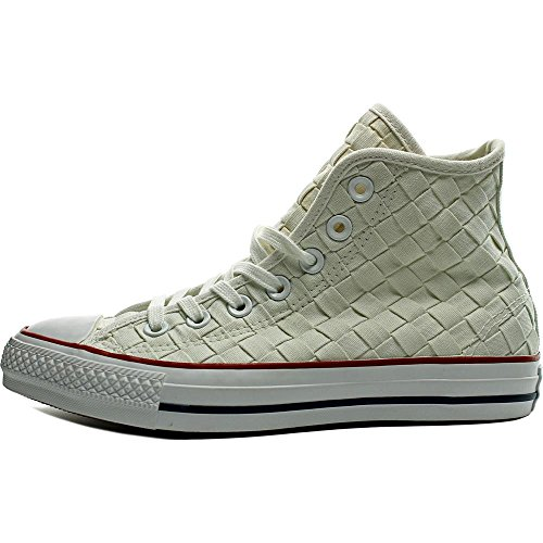 Converse Mens Chuck Taylor All Star High Top Wit / Rood / Wh