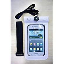 Generic Waterproof Case, Dry Bag, Armband,Built-in Compass, universal for Galaxy S7/S6/EDGE/S5, iPhone 6 Puls/6S/5/SE for Boating/Hiking/Swimming/Diving - (WHITE)