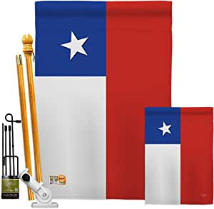 Amazon Com Nationality Chile Garden House Flags Kit Regional Nation International World Country Particular Area Small Decorative Gift Yard Banner Made In Usa 28 X 40 Garden Outdoor