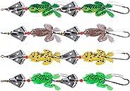 Goture 9pcs/lot 5pcs/lot Topwater Frog Fishing Lure 5.5CM 12.45g Fishing Artificial Lure Frog Bait