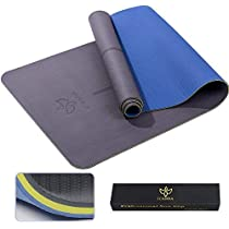 ICANNA Pro Non Slip Yoga Mat with Alignment Lines - 73