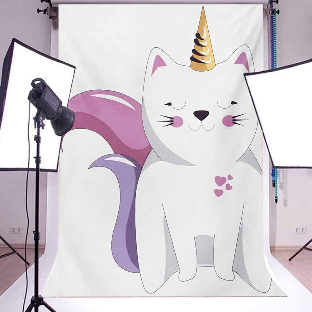 10x15 FT Photography Backdrop Fictitious Horned Character with Cute Face Expression Girls Kids Background for Kid Baby Boy Girl Artistic Portrait Photo Shoot Studio Props Video Drape Vinyl