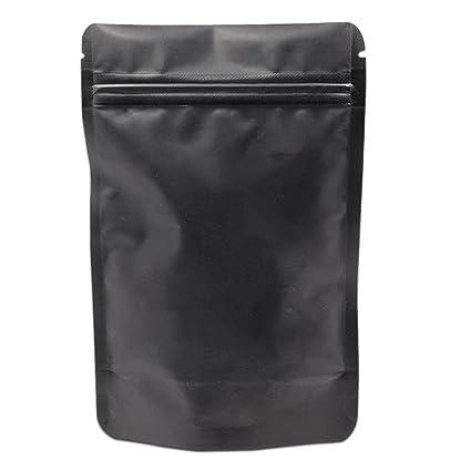 50pcs Mylar Foil Bags Aluminium Sachet Pouch with Ziplock Heat Seal Food Grade