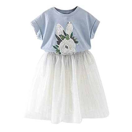 2pcs Fashion Summer 1-5years Toddler Kids Baby Girls Outfit Clothes Floral Plaid Printed Bell Half Sleeve T-shirt Top Pants Set Girls' Clothing