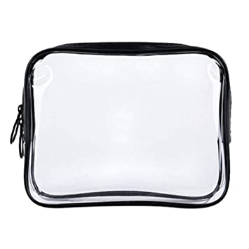 5f251eddc035 Amazon.com   Clear Travel Toiletry Bag PVC Waterproof Three-dimensional Cosmetic  Bag for Travel Accessories
