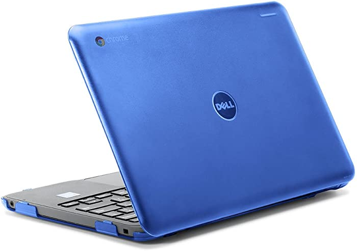 "iPearl mCover Hard Shell Case for 2017 11.6"" Dell Chromebook 11 3180 Series Laptop (NOT Compatible with 210-ACDU / 3120/3189 Series) (Blue)"