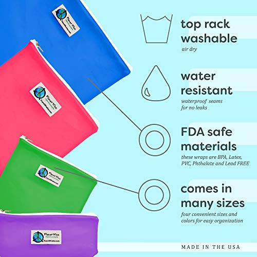 Planet Wise Reusable Clear Hook and Loop Quart Bag