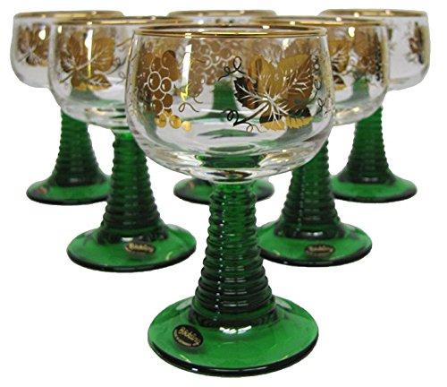 Wein Römer - German Wine Glass Set (6) - Gold Trim .1L