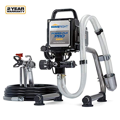 HomeRight Power Flo Pro 2800 C800879 Airless Paint Sprayer Spray Gun, Power Painting for Home Exterior, Fence, Shed, and Garage 2800 psi, 0.24 gpm (Wagner 2 Step Pro Duty Power Painter)