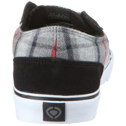 C1RCA - Zapatillas de deporte de ante para hombre Negro (Black/Gray Plaid)