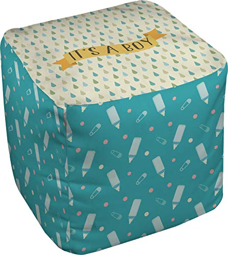 RNK Shops Baby Shower Cube Pouf Ottoman - 13'' (Personalized) by RNK Shops (Image #1)