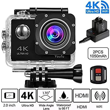 akaso 4k wifi sport action camera subacquea  Action Cam 4K, WIFI Sport Action Camera Full HD 16MP/12MP ...