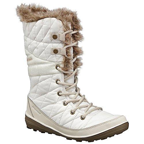 Columbia Heavenly Omni-Heat Snow Boot Winter Shoe - Sea Salt/Fawn - Womens - - Ivory Salt