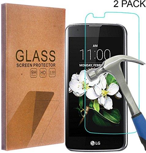 LG K10 Tempered Glass Screen Protector, Asstar 0.26mm 2.5D HD Clear Screen Film 9H Hardness Anti Scratch Fingerprint for LG K10/LG Premier LTE L62VL L61AL (2016) - Gap 2 Free Shipping Day