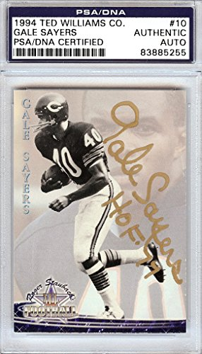 Gale Sayers Autographed 1994 Ted Williams Company Card #10 Chicago Bears
