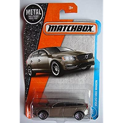 Matchbox 2020 MBX Adventure City Volvo V60 Wagon 14/125, Tan: Toys & Games
